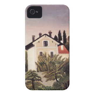 House on the Outskirts of Paris by Henri Rousseau iPhone 4 Case-Mate Case