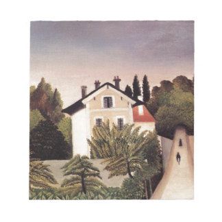 House on the Outskirts of Paris by Henri Rousseau Note Pad