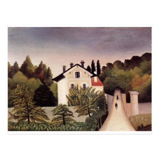 House on the Outskirts of Paris by Henri Rousseau Postcard