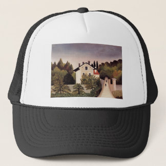 House on the Outskirts of Paris by Henri Rousseau Trucker Hat