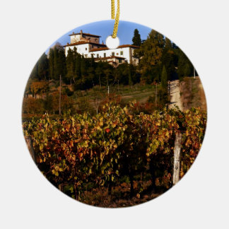 House on the Tuscan Hill Ceramic Ornament