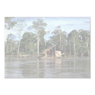 House on upper Amazon River, Peru 5x7 Paper Invitation Card