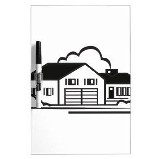 House Outline Dry-Erase Whiteboard