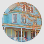House - Painted Lady Classic Round Sticker