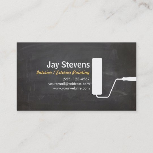 house painter black painting business business card - Painting Business Cards