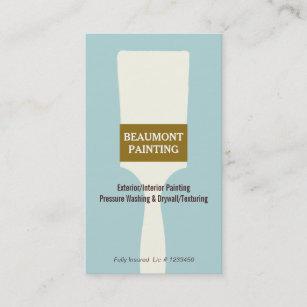 House Painter Paint Brush Logo Business Card