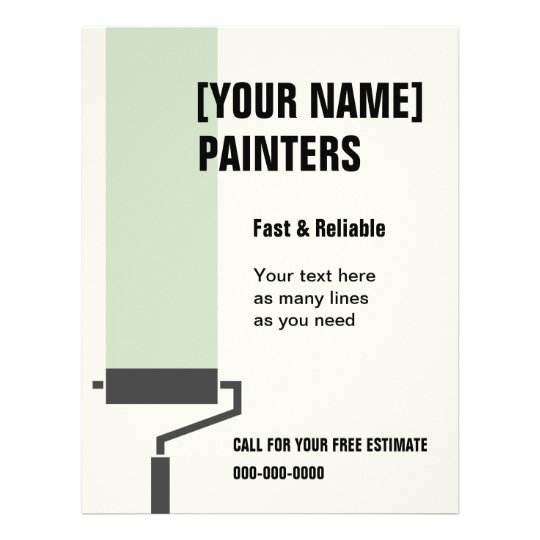 House Painters flyer with custom text | Zazzle