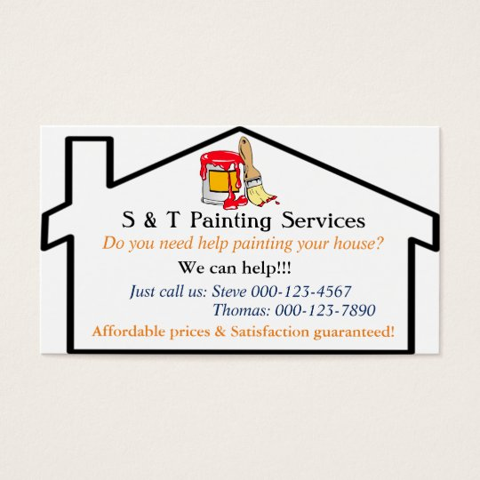 House Painting Services Business Card Template