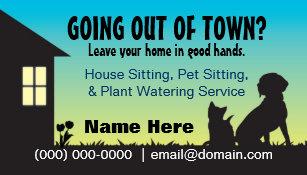 Pet sitting business cards templates zazzle house pet sitting plant watering business card colourmoves