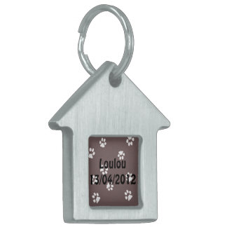 House Pet Tag Pattes Blanche/Marron