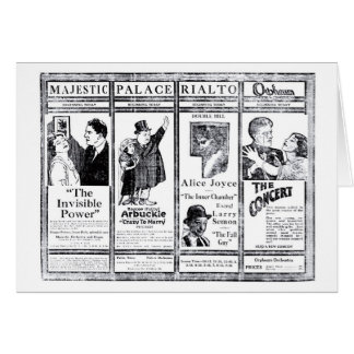 House Peters Fatty Arbuckle silent movie ads 1921 Card