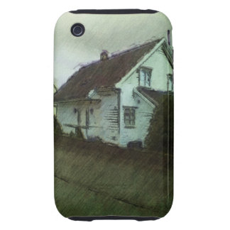 House photo drawing iPhone 3 tough case