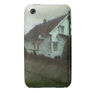 House photo drawing iPhone 3 Case-Mate cases