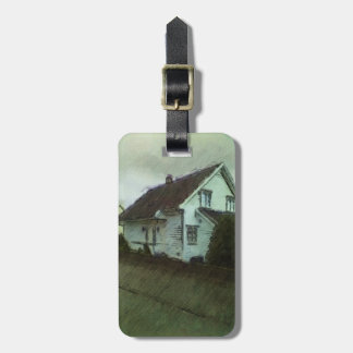 House photo drawing luggage tag