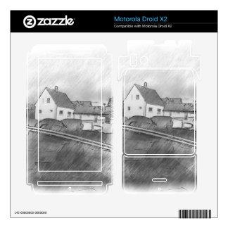 House photo drawing motorola droid x2 skin