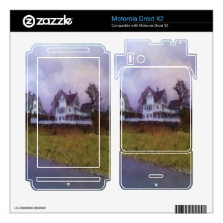 House photo drawing motorola droid x2 decals