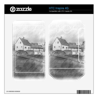 House photo drawing decals for HTC inspire 4G