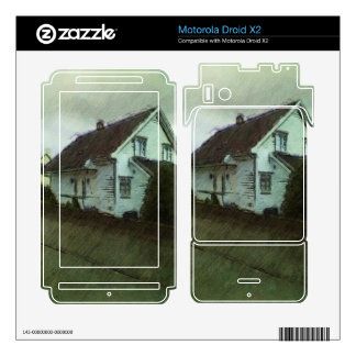 House photo drawing motorola droid x2 skins