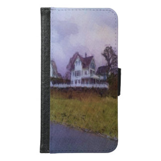 House photo drawing wallet phone case for samsung galaxy s6
