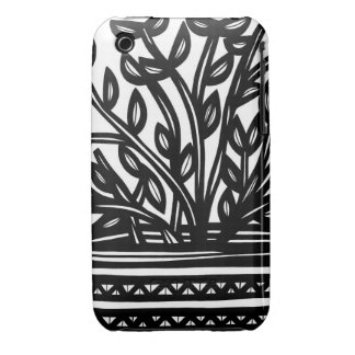House Plane Leaves Black and White iPhone 3 Cover
