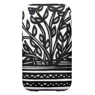 House Plant Black and White Tough iPhone 3 Cover