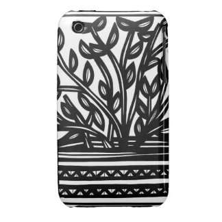 House Plant Black and White iPhone 3 Case-Mate Cases