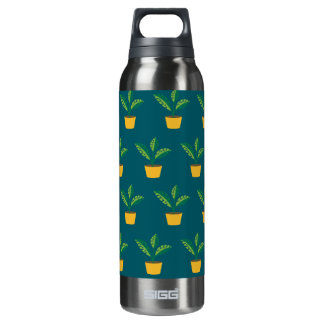 house plant blue green 16 oz insulated SIGG thermos water bottle
