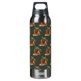 house plant brown green 16 oz insulated SIGG thermos water bottle