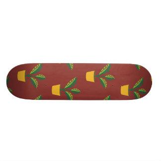 house plant red brown custom skate board