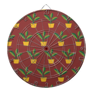 house plant red brown dart board