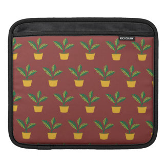 house plant red brown sleeves for iPads
