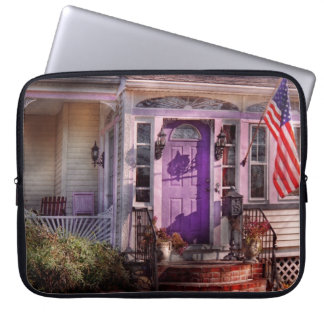 House - Porch - Cranford, NJ - Lovely in Lavender Computer Sleeve