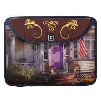 House - Porch - Cranford, NJ - Lovely in Lavender MacBook Pro Sleeve