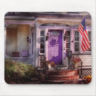 House - Porch - Cranford, NJ - Lovely in Lavender Mouse Pad