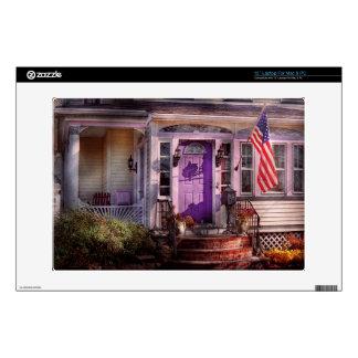 "House - Porch - Cranford, NJ - Lovely in Lavender 13"" Laptop Skins"