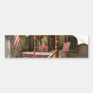 House - Porch - Traditional American Bumper Sticker