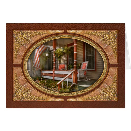 House - Porch - Traditional American Card
