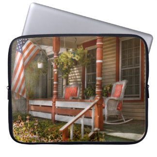 House - Porch - Traditional American Computer Sleeve