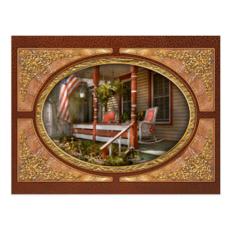 House - Porch - Traditional American Post Cards