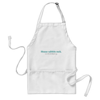 House rabbits rock.  Apron. Adult Apron