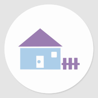 House - Real Estate Classic Round Sticker