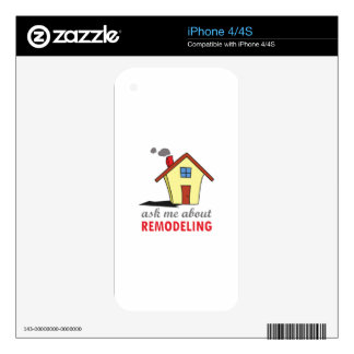 HOUSE REMODELING DECAL FOR iPhone 4S