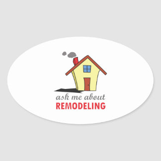 HOUSE REMODELING OVAL STICKERS