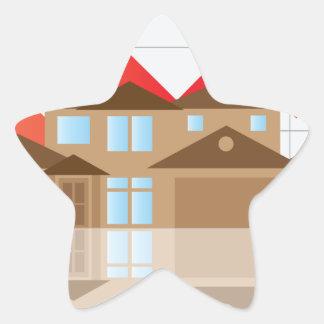 House Rising Value Graph Illustration Star Sticker