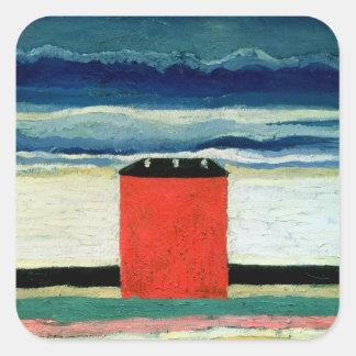 House roja, 1932 calcomanias cuadradas