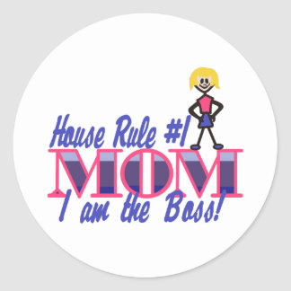 House Rule #1 Classic Round Sticker
