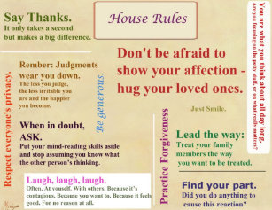 House Rules Posters & Photo Prints | Zazzle