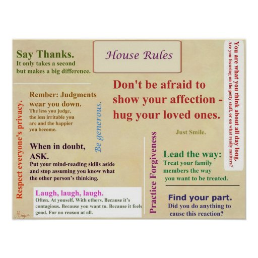 house rules poster zazzle build your own house online virtual house design and