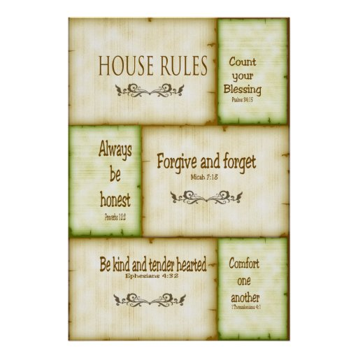 house rules poster zazzle art design house rules wall sticker french version family