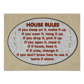 House Rules Posters